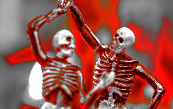 Skeletons dance. Foto: Flickr / Kevin Dooley