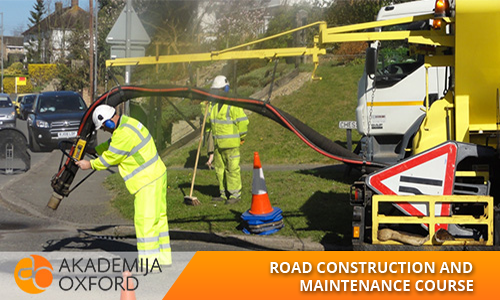 Road construction and maintenance course and training