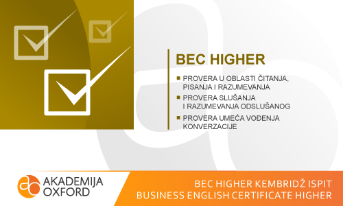 BEC Higher Kembridž ispit - Business English Certificate Higher
