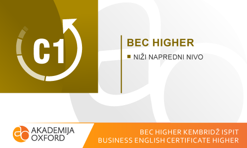BEC Higher Kembridž ispiti - Business English Certificate Higher