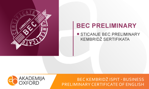 BEC ispit Kembridža - Business Preliminary Certificate of English