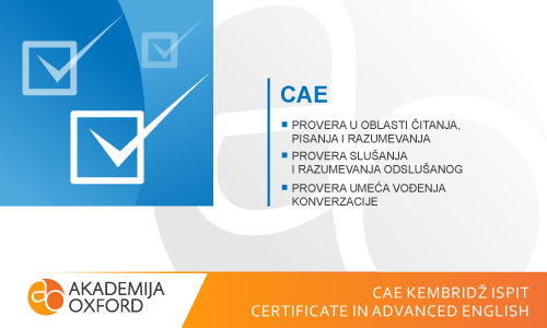 CAE Kembridž ispit - Certificate in Advanced English