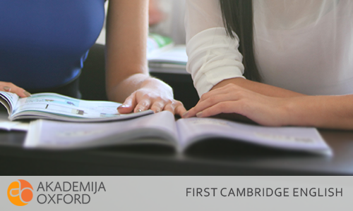 B2 First Kembriž sertifikati - Cambridge English:B2  First