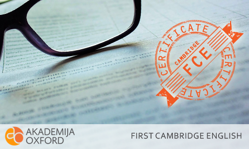 B2 First sertifikat Kembriža - Cambridge English: First