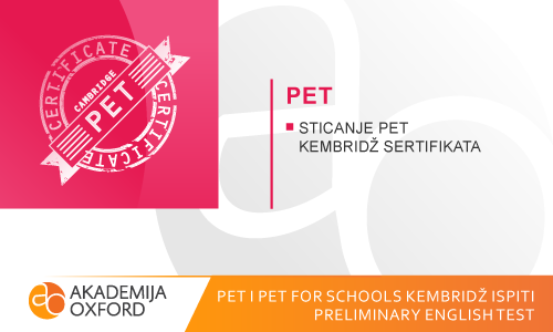 PET i PET for Schools ispit Kembridža - Preliminary English Test