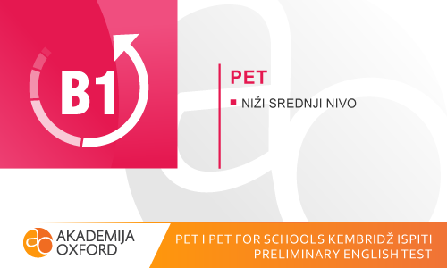 PET i PET for Schools Kembridž ispit - Preliminary English Test