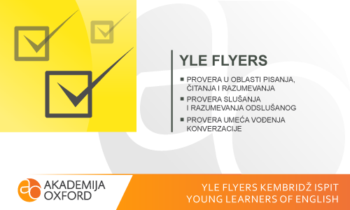YLE Flyers Kembridž ispit - Young Learners of English
