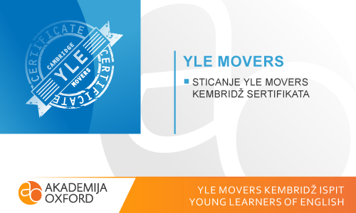 YLE Movers ispit Kembridža - Young Learners of  English