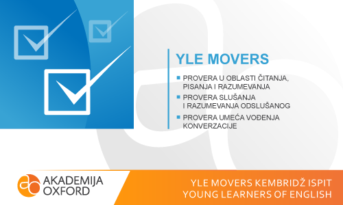 YLE Movers Kembridž ispit - Young Learners of  English