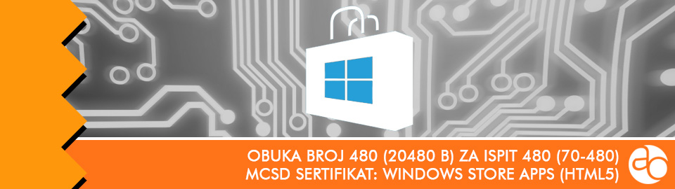 MCSD: Windows Store Apps (HTML5): obuka broj 480 (20480 B) za ispit 480 (70 - 480)