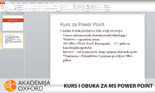 MS Power Point - Niš - Akademija Oxford