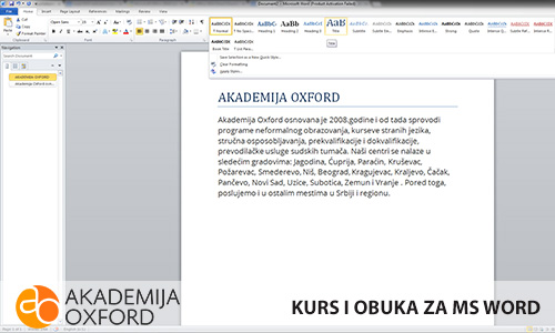 MS Word - Niš - Akademija Oxford