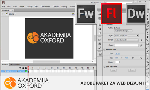 Adobe Dreamweaver, Flash, Fireworks - Napredni nivo Novi Sad - Akademija Oxford