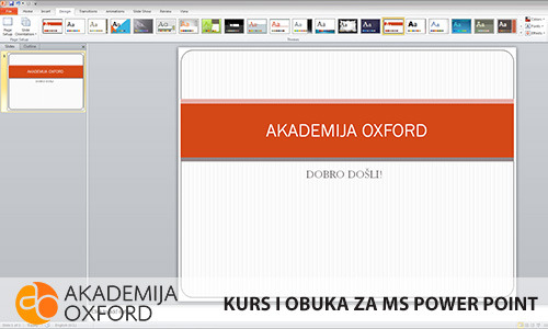 Obuka za MS Power Point - Niš - Akademija Oxford