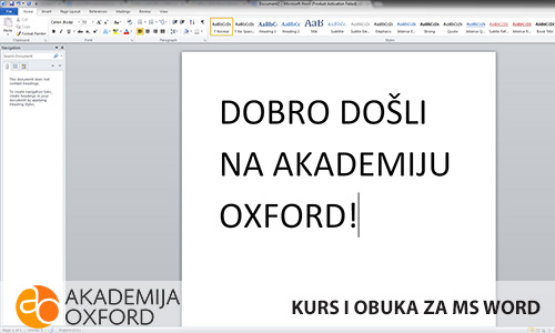 Obuka za MS Word - Niš - Akademija Oxford