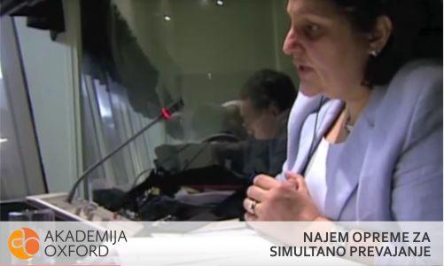 Simultano prevajanje - najem opreme