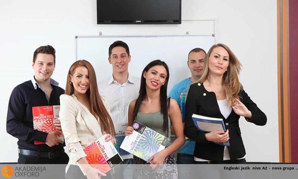 Engleski jezik nivo A2 - nova grupa