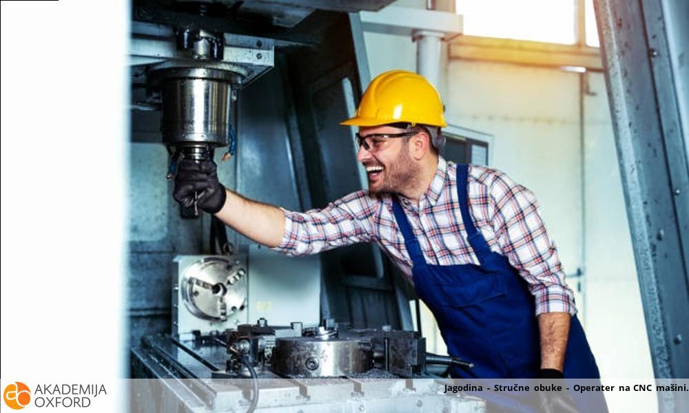 Jagodina - Stručne obuke - Operater na CNC mašini