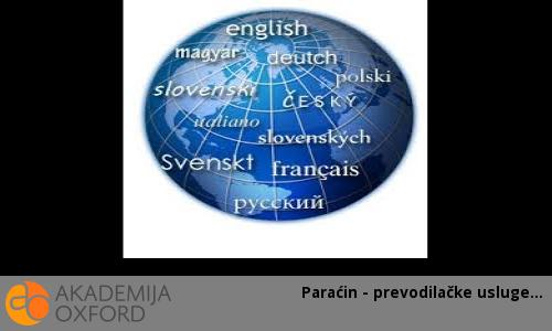 Paraćin - prevodilačke usluge
