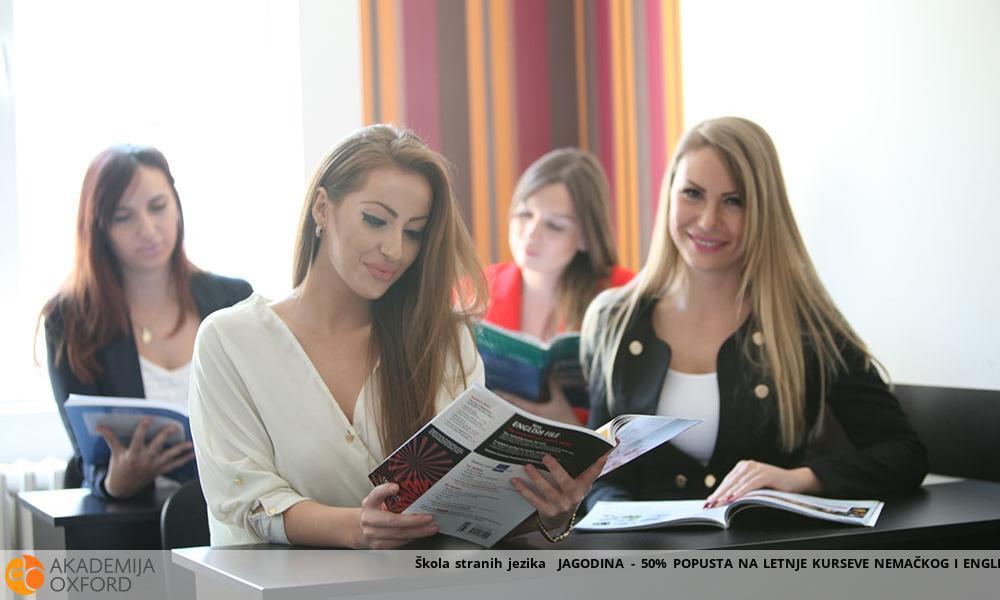 Škola stranih jezika  JAGODINA - 50% POPUSTA NA LETNJE KURSEVE NEMAČKOG I ENGLESKOG JEZIKA