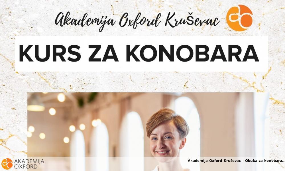 Akademija Oxford Kruševac - Obuka za konobara