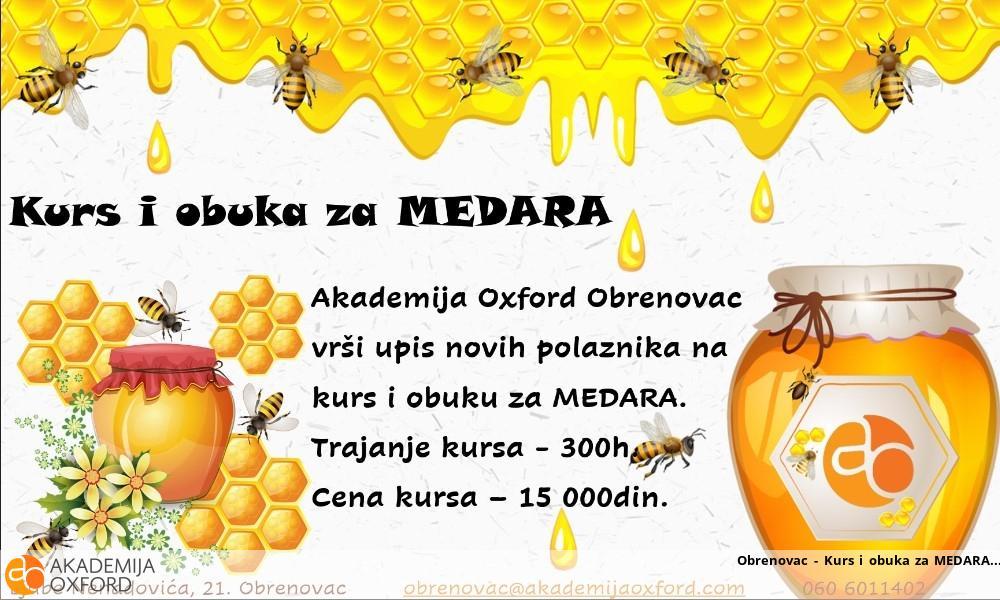 Obrenovac - Kurs i obuka za MEDARA