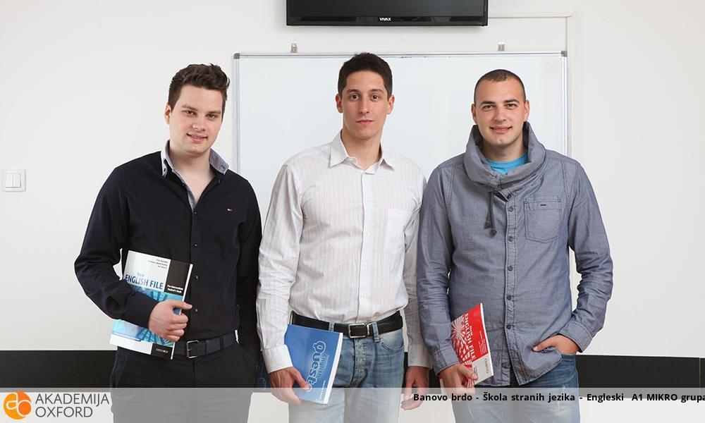 Banovo brdo - Škola stranih jezika - Engleski  A1 MIKRO grupa