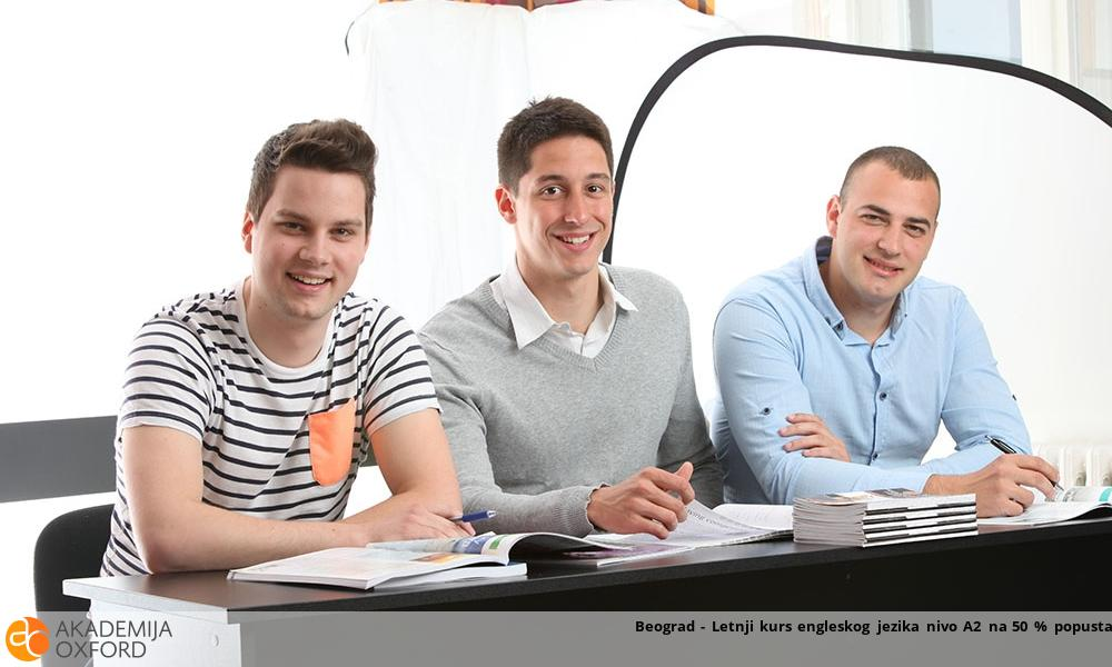 Beograd - Letnji kurs engleskog jezika nivo A2 na 50 % popusta!