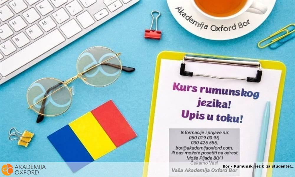 Bor - Rumunski jezik za studente!