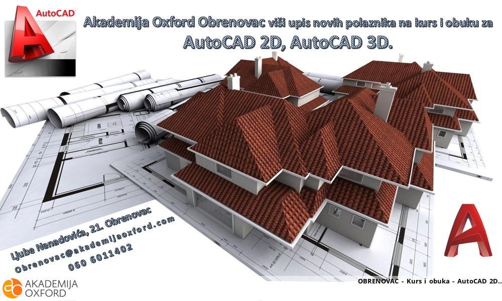 OBRENOVAC - Kurs i obuka - AutoCAD 2D