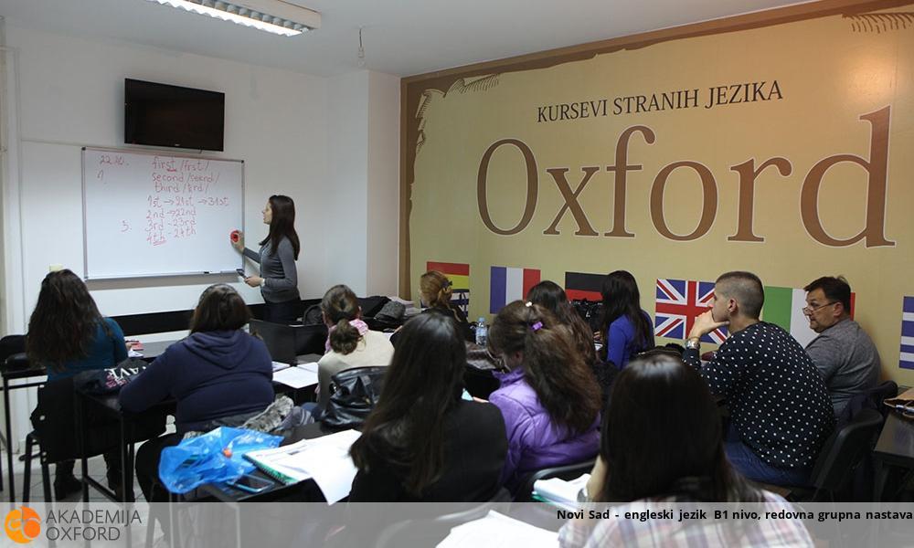 Novi Sad - engleski jezik B1 nivo, redovna grupna nastava