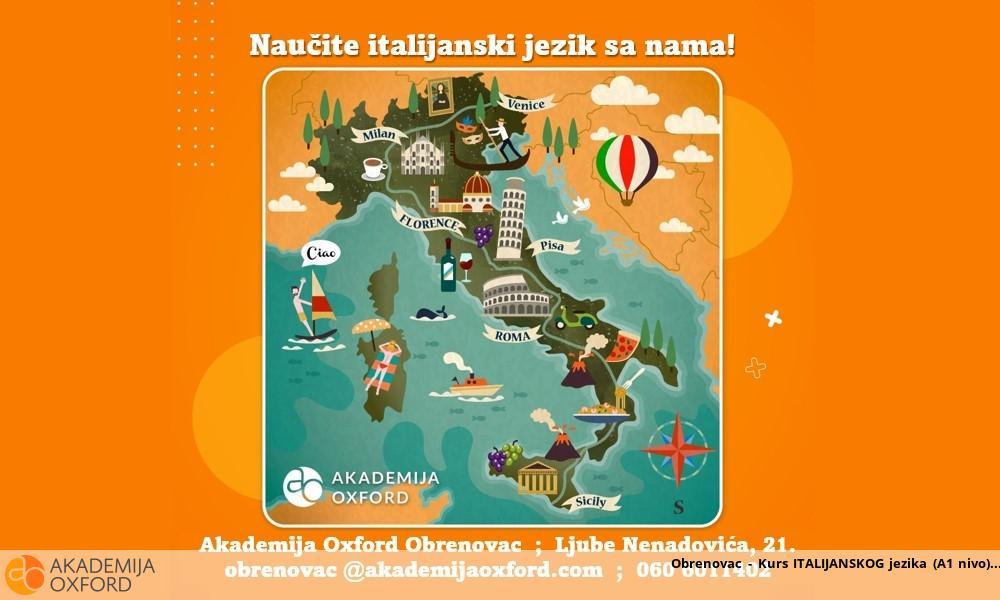 Obrenovac - Kurs ITALIJANSKOG jezika (A1 nivo)