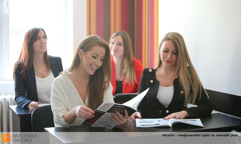 Paraćin - medjunarodni ispiti za nemački jezik
