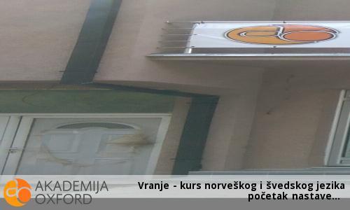 Vranje - kurs norveškog i švedskog jezika - početak nastave