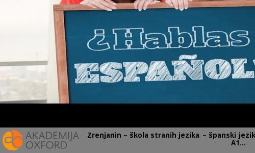 Kurs španskog jezika - nivo A1